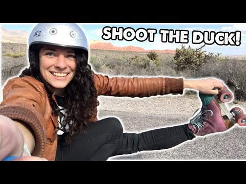 HOW TO SHOOT THE DUCK at Red Rock Canyon in Las Vegas - Planet Roller Skate Ep. 29