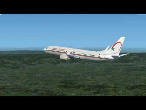 Flight from Lyon to Casablanca Boeing ROYAL AIR MAROC