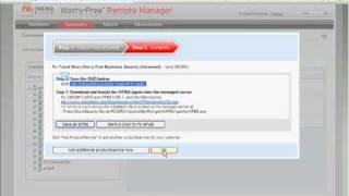 Tour WFRM - Trend Micro Worry-Free Remote Manager