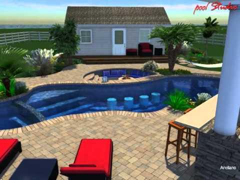 Innovative spas custom pool design arellano youtube for Innovative pool design king s mountain