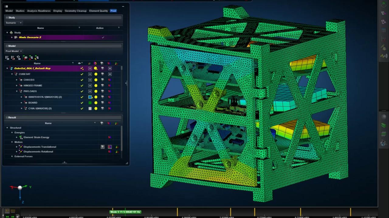 CubeSat Modal Analysis with MSC Apex