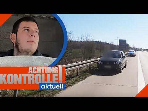 Auf Autobahn Stehen Geblieben! Abschlepper Muss Anrücken | Achtung Kontrolle Aktuell | Kabel Eins