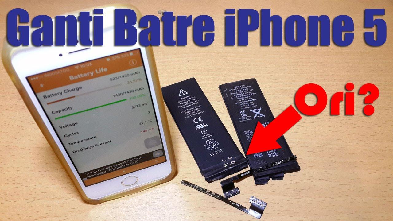 Dimana Dijual   Cara Mengganti Baterai iPhone 5 Ori  - YouTube b7b38365be