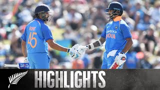 Sharma & Dhawan Put On 150 Run Opening Stand | HIGHLIGHTS | 2nd ODI - BLACKCAPS v India, 2019