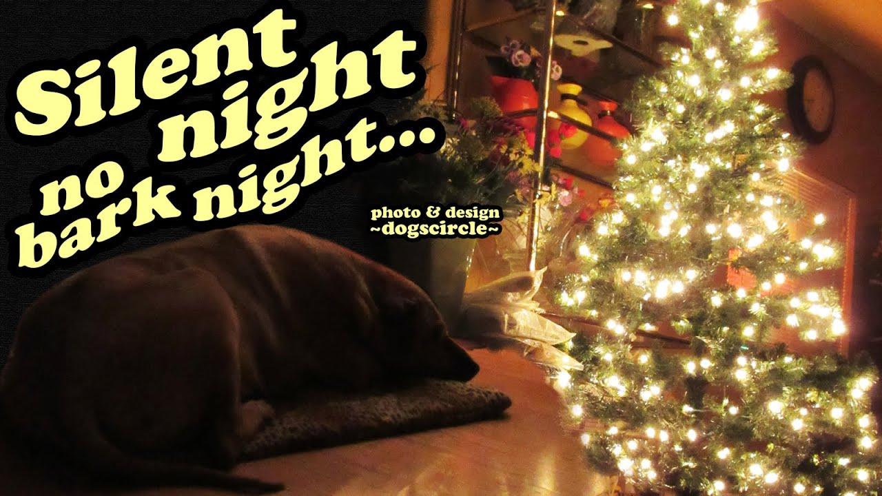 Silent Night No Bark Barking Dogs - Christmas Dog Holiday Season ...