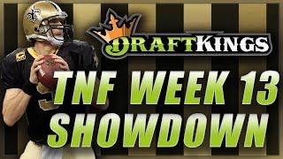 Draftkings Nfl Week 13 Tnf Showdown: Cowboys Saints Dfs Picks