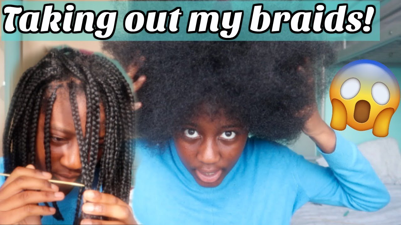 WATCH ME TAKE OUT MY BRAIDS & MY LIT PLAYLIST!!