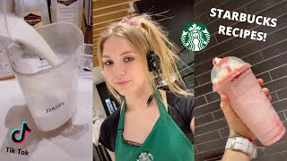 Starbucks barista teaches you how to make your favourite Starbucks drinks (TikTok compilation)
