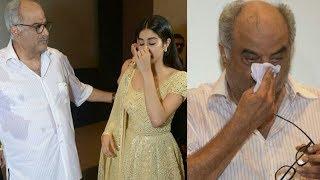 Boney Kapoor, Jhanvi Kapoor Gets Emotional, Breaks Down Publicly Remembering Sridevi On Her Birthday