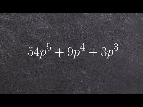 How to factor out a GCF from a polynomial to a higher order