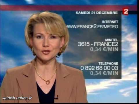 France 2 21 d cembre 2002 m t o pubs d but programmes youtube - Meteo france 2 presentatrice ...