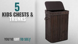Kids Chests & Trunks [2018]: Songmics Bamboo Laundry Hamper Storage Basket Foldable Dirty Clothes