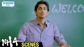 NH4 Telugu Full Movie Scenes | Siddharth Funny Butler English | Ashrita Shetty | Shemaroo Telugu