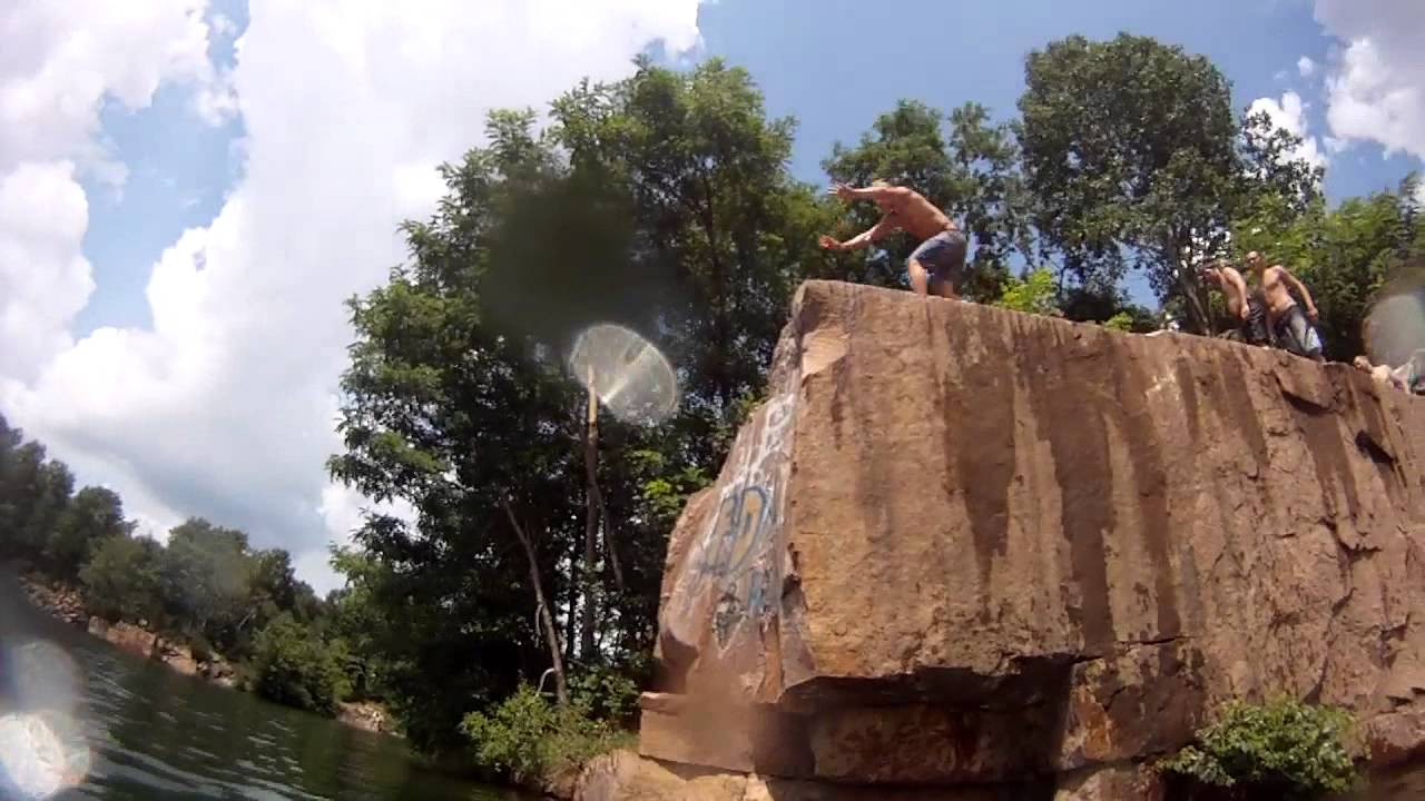 Red Granite Cliff Jumping Youtube