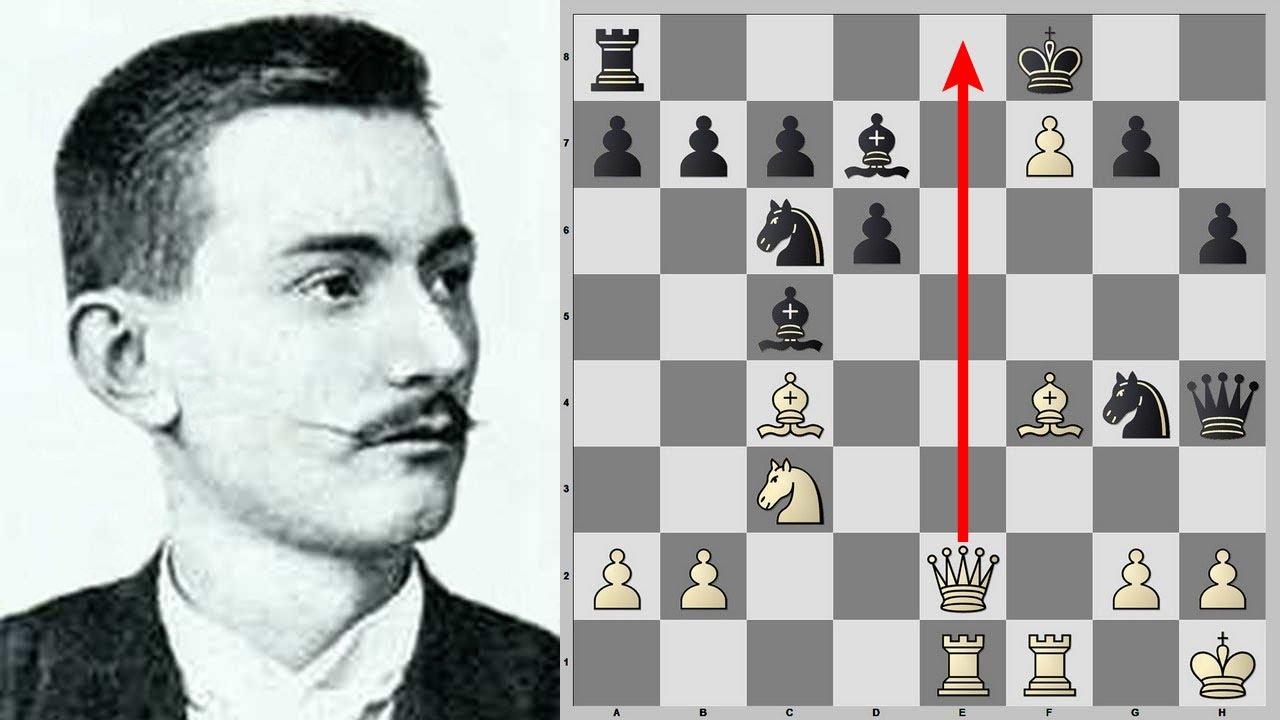 КРАСИВАЯ КОМБИНАЦИЯ С ЖЕРТВОЙ ФЕРЗЯ || Рудольф Харузек ||  Шахматы
