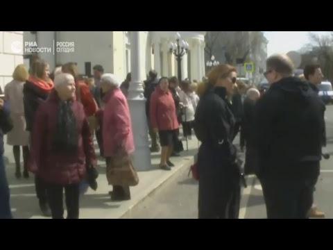 Церемония прощания с российской актрисой Ниной Дорошиной