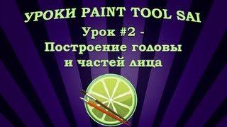 Уроки Paint Tool SAI #2 - Построение головы и частей лица