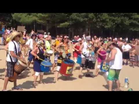 Brasil Samba beat drums on OKA beach Montreal