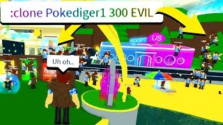 SPAWNING 300 *EVIL* BOTS WITH ADMIN COMMANDS.. (Roblox)