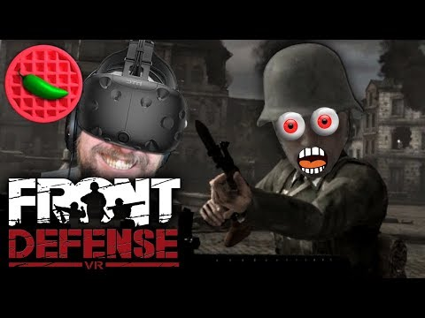 UKO HOLDS THE LINE! -- Let's Play Front Defense (HTC Vive VR Gameplay)