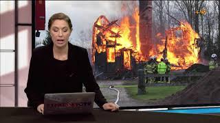 Två till sjukhus efter kraftig brand i villa