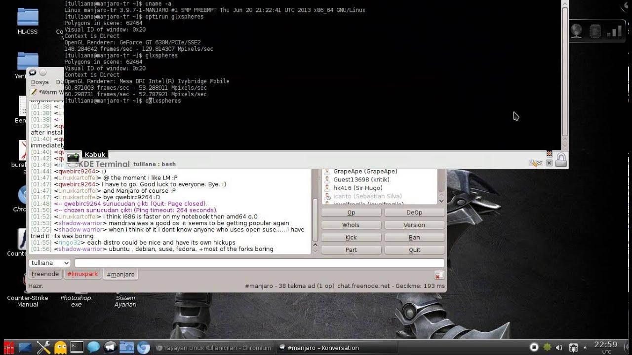 Manjaro Linux Bumblebee Optimus Testing (intel/nvidia)
