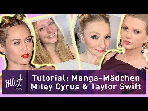 Tutorial: Taylor Swift & Miley Cyrus II Manga-Mädchen Look II Must Have thumbnail