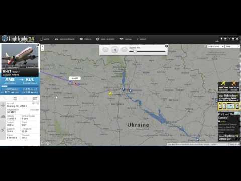 Malaysian Flight MH17 Full Flight Radar Playback Shot Down Ukraine