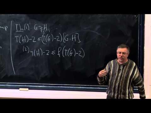Mark Sapir - The Tarski numbers of groups.