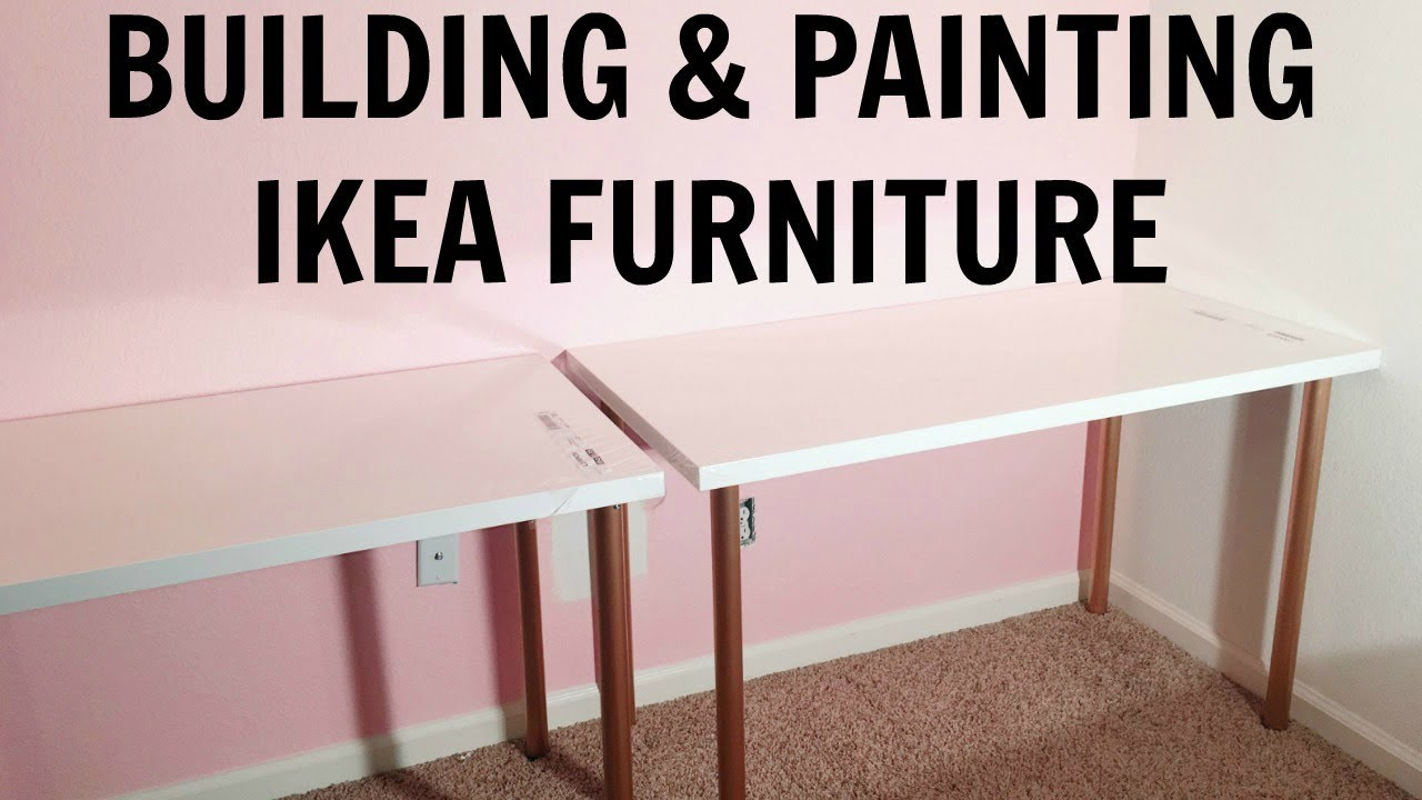 Building Painting Ikea Furniture Studio Office Makeover