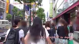 Japan Trip 2014 Tokyo Cycling, Fire-Dōri(street) to Shibuya Station area.