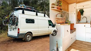 You'll be BLOWN AWAY by the gear this AUSTRALIAN Van Conversion Travels With | VAN TOUR