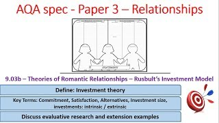 9.03b Rusbults Investment model -Relationships -AQA Alevel Psychology, paper 3