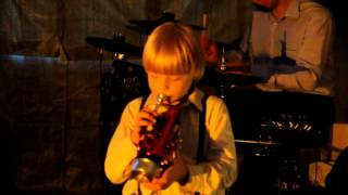 Penguin Blues 7 years old trumpet player Grigory Podorov