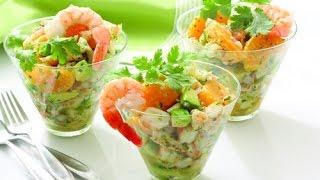 #28 Как приготовить салат с креветками и кунжутом