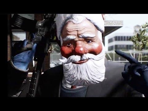 Payday 2 Charlie Santa  DLC Trailer