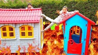 Yerde Lav Var Oynadık Çok Eğlendik Funny kids video