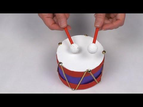 Fabriquer un tambour avec une boîte de Camembert