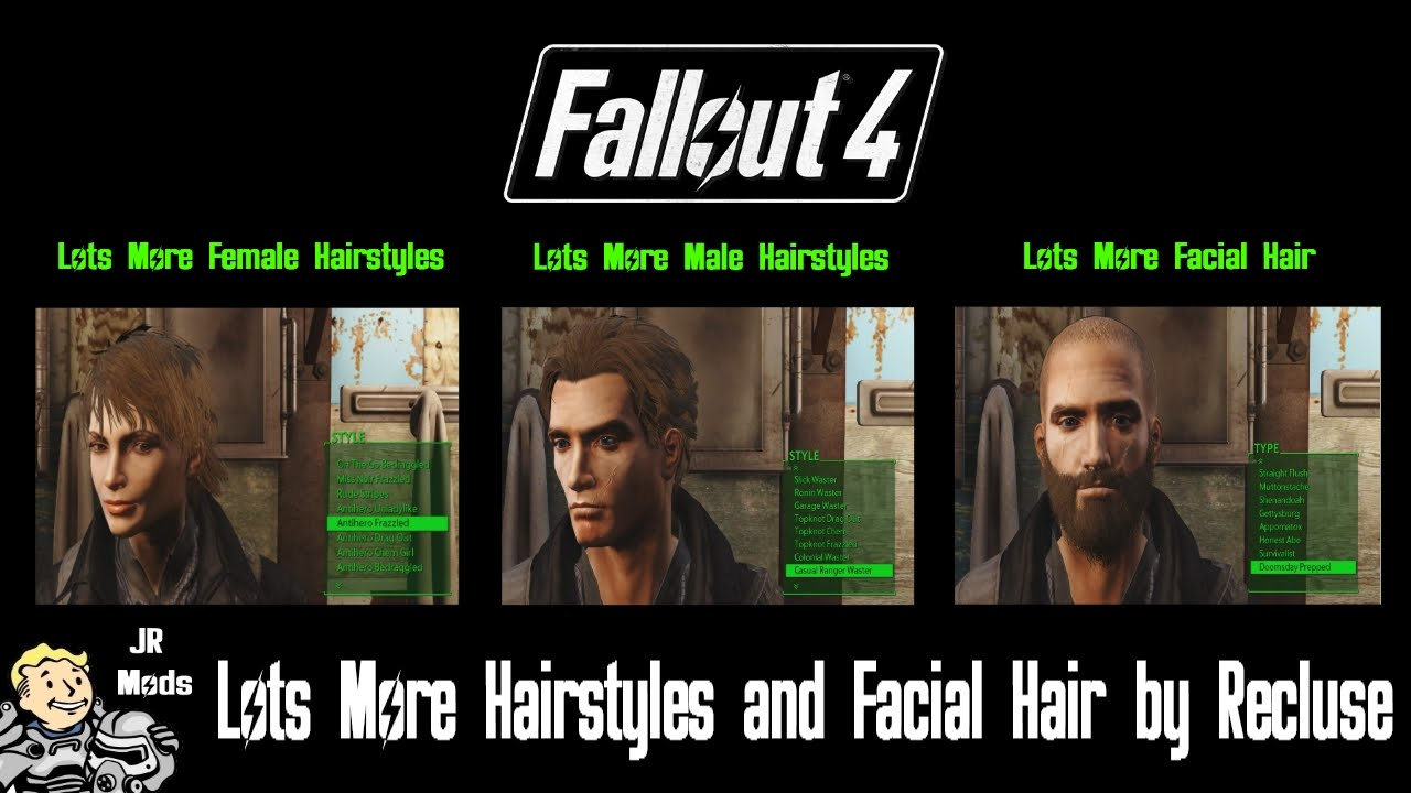 Fallout 4 Mod Showcase Lots More Hairstyles And Facial Hair By