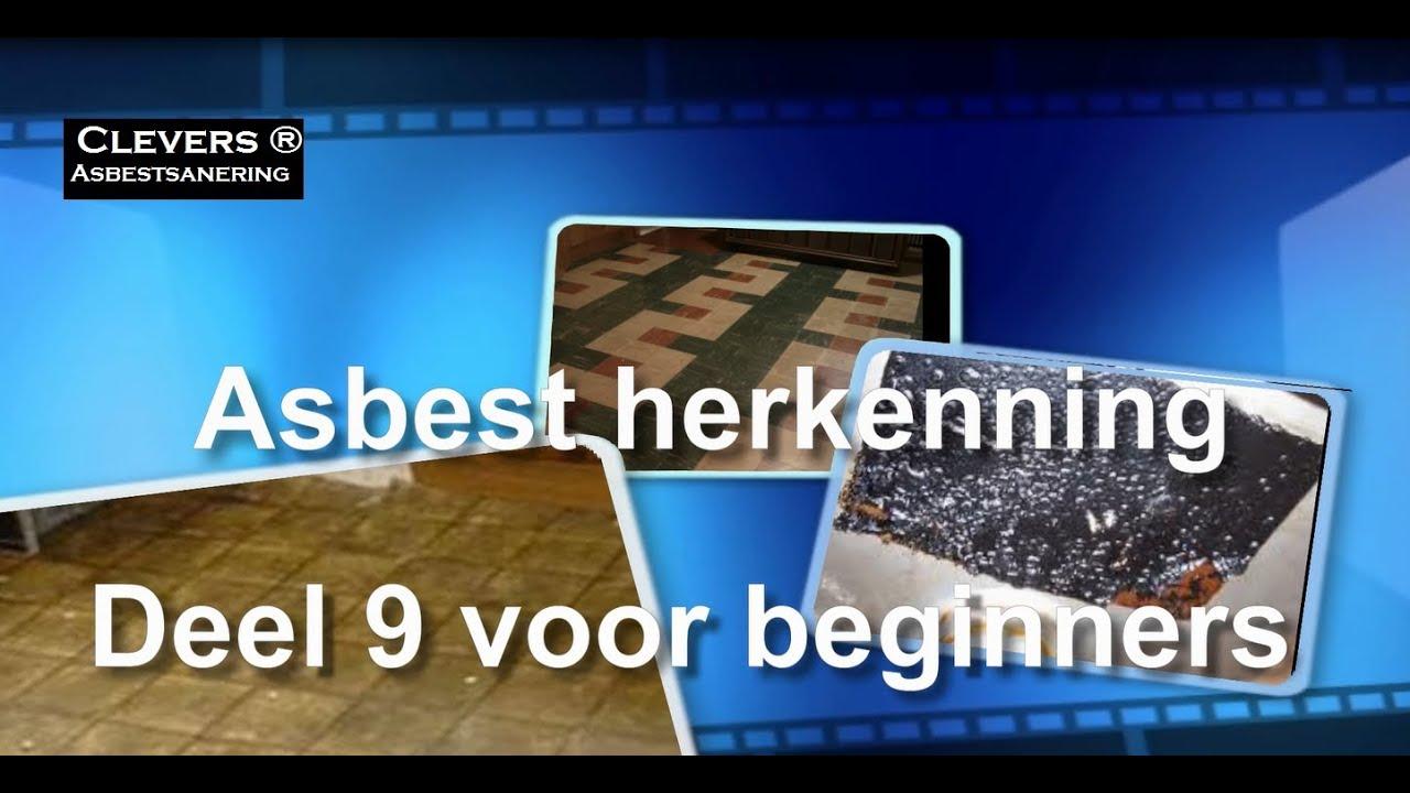 Novilon Vinyl Vloer : Asbestherkenning deel asbest bitumen colovinyl en novilon youtube