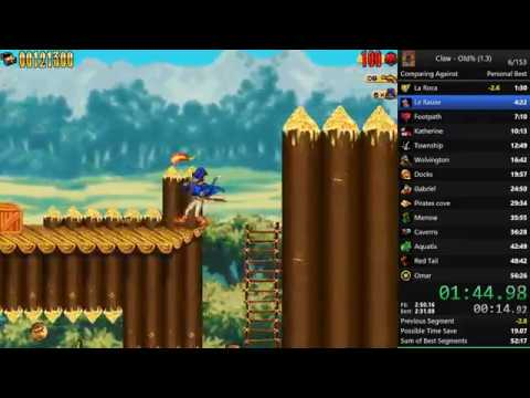 Captain Claw Speedrun old% v1.3 - 54:07:74 (WR)