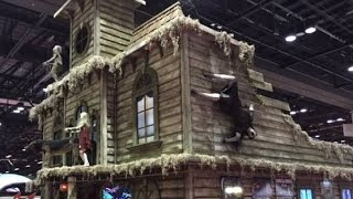halloween productions blacklight attractions iaapa booth haunt walk through