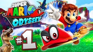 SUPER MARIO ODYSSEY Part 1 - Gameplay Walkthrough World 1  - T-REX MARIO!