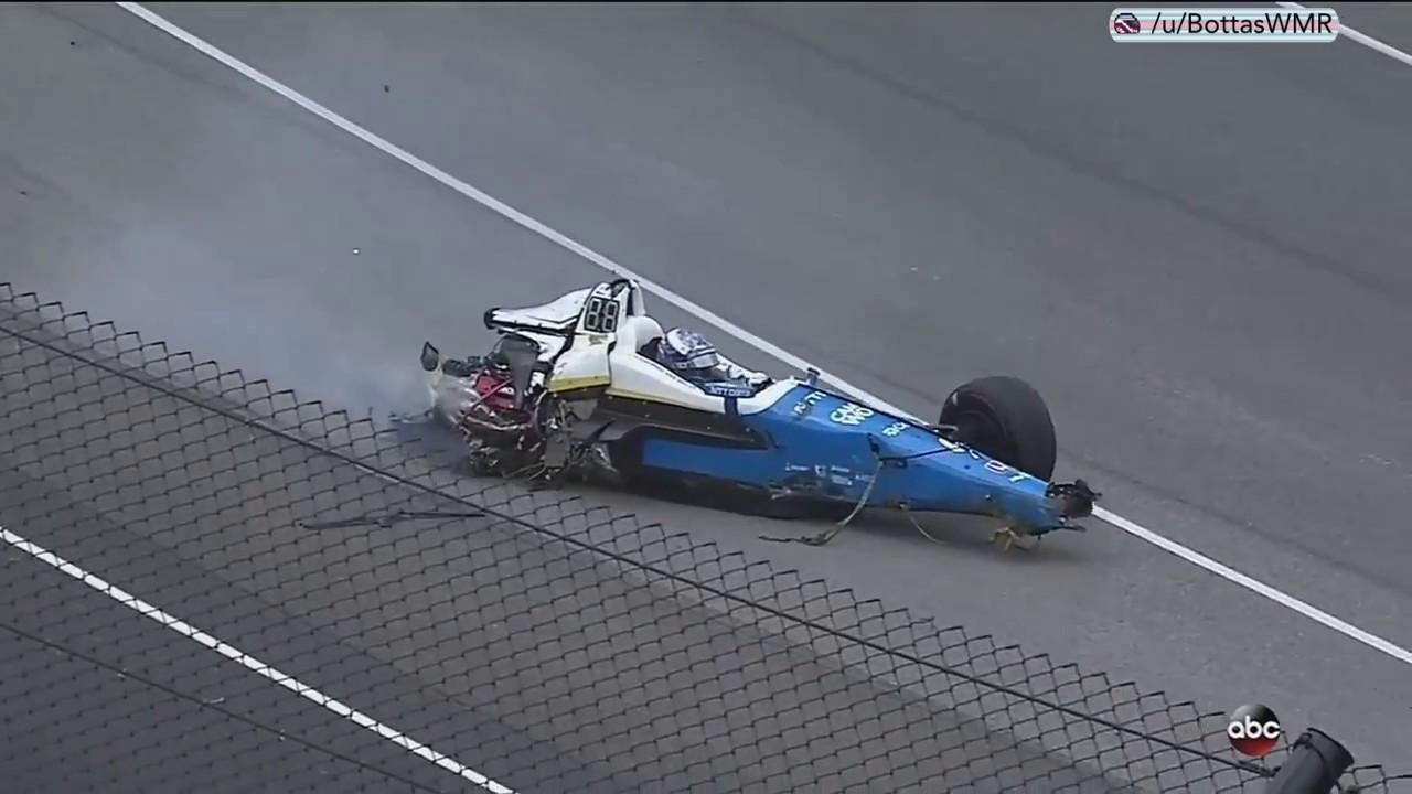 Scott Dixon huge crash. Indy 500.