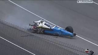 Scott Dixon huge crash. 2017 Indy 500.