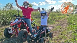 Father & Son Adventure Time Unboxing and Riding Adult & Kids Ride On ATV 4 Wheelers at The  Farm