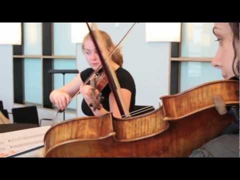 Espiga Trio - Schubert string trio in Bb. D 471. Allegro
