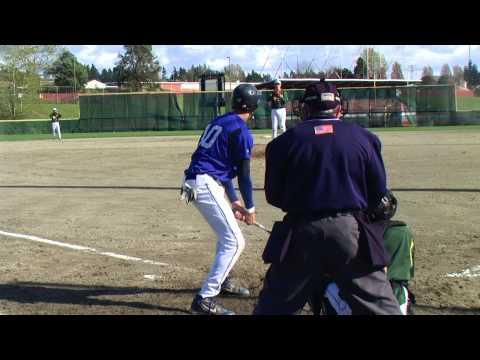 Ian Buckles pitching vs. Federal Way (Camera behin...