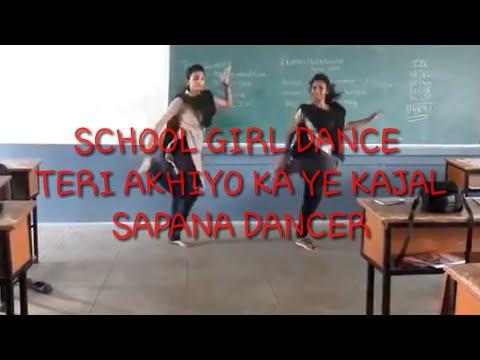 Teri Aakhya Ka Yo Kajal Sapna Choudhary | Mane Pal Pal Yaad Teri Tadpave school girls dance