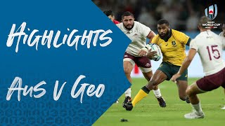 Highlights: Australia v Georgia - Rugby World Cup 2019